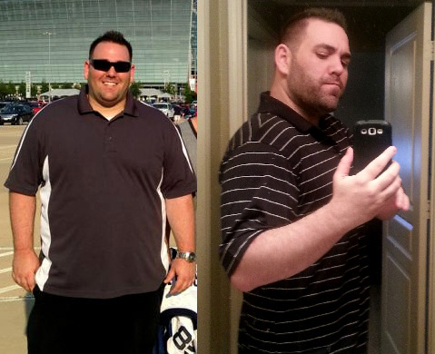 HGH before and after photo of Aaron