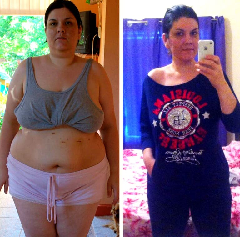 HGH before and after photo of Monica