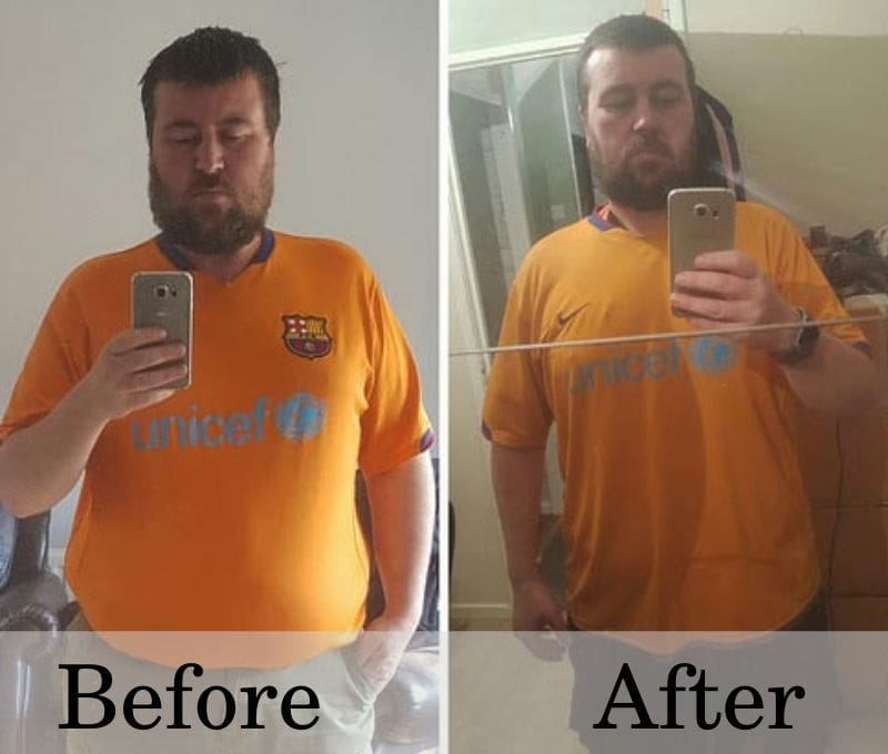 John's weight loss results on HGH