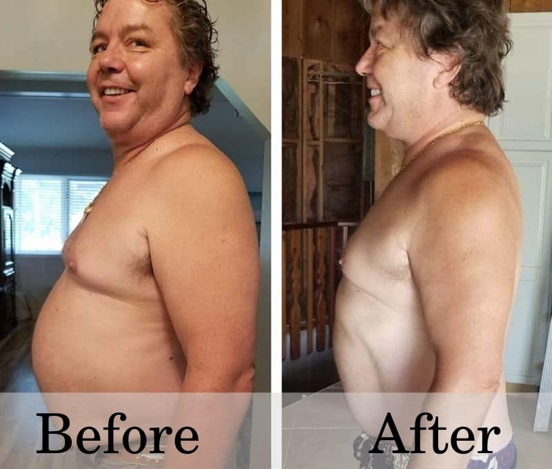 Raymon's weight loss results on HGH