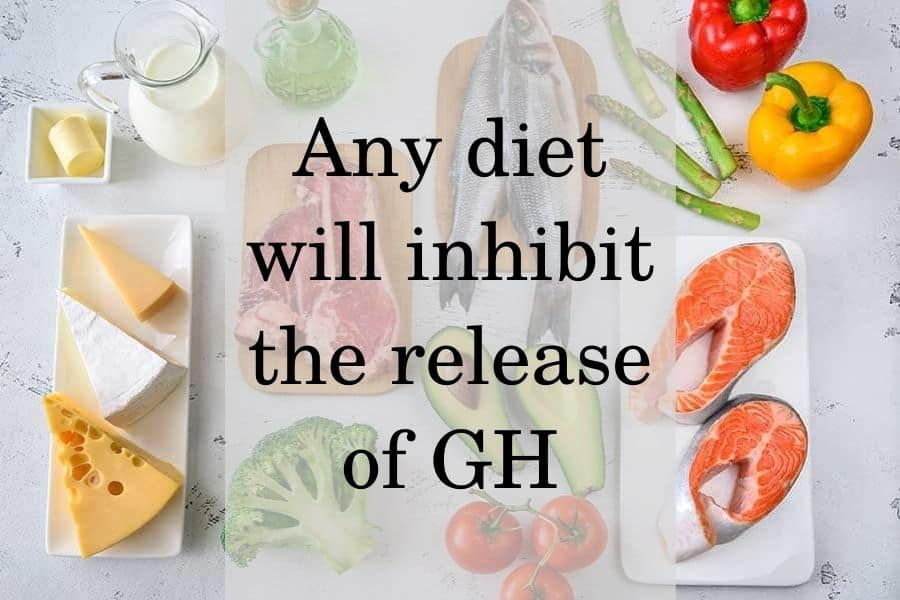 How diet affect GH release