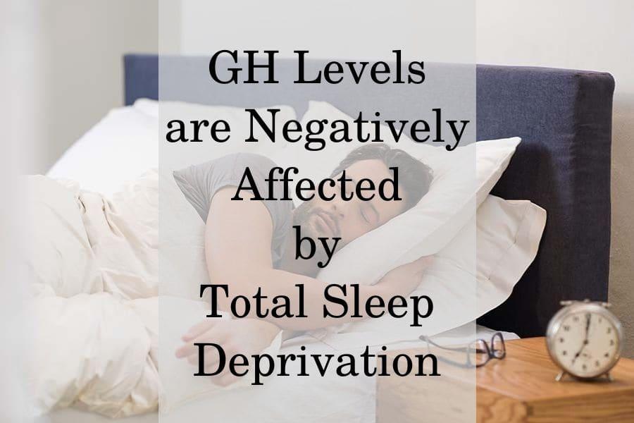 How sleep deprivation affect GH?